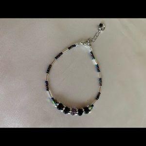 Crystal rondelle bracelet